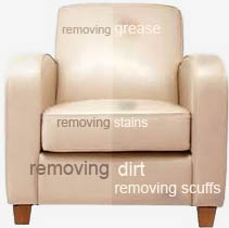 leather sofa chair and upholstery cleaning in Nottinghamshire